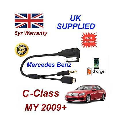 Para Mercedes Benz SLK Audio Samsung Galaxy HTC Sony Micro USB y AUX 3.5mm cablel