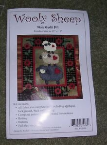 0cae2f0b5439 Image is loading 034-Wooly-Sheep-034-Applique-039-Wall-Quilt-