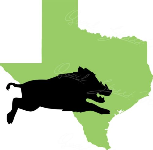 Vinyl Decal Free Shipping 1894 Wild Boar Hog Javelina Across Texas