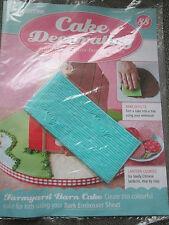 Deagostini Cake Decorating Magazine ISSUE 88 WITH BARK EMBOSSER SHEET