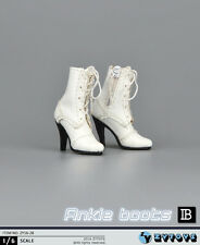 ZY Toys 1:6 Figure Accessories Ankle Boots White ZY-16-28B