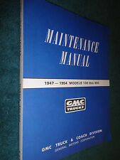 1947-1954 GMC 100-400 TRUCK SHOP MANUAL / PICKUP / PANEL, / CARRY ALL BOOK 50 51