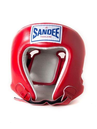 SANDEE faccia aperta Testa Guardia Copricapo Adulto Bambino Pugilato MMA Muay Thai Protezione