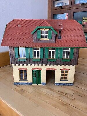 """970 ASSEMBLED MODEL OF AN OLD WOODEN LAMP POST 12 1//2/"""" TALL G SCALE LGB POLA No"""