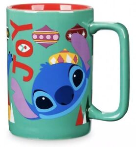 Disney-Store-Lilo-And-Stitch-Christmas-2018-Joy-Fa-La-La-Ceramic-12oz-Mug
