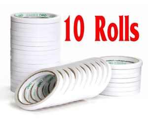 1-2-5-10x-Rolls-6mm-Double-Sided-Super-Strong-Adhesive-Tape-for-DIY-Craft-Brand