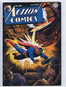 Action Comics #108 DC Pub 1947, Mitchell Moran copy, CLASSIC COVER !