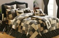 Kettle Grove Queen Quilt - Primitive Patchwork Bedspread By Vhc Brands