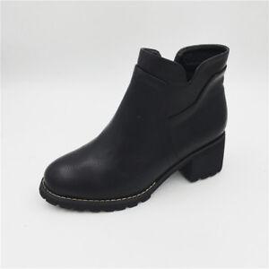 Noir Bottines Chaussures Bottes 4 Cm Cuirl Bottes Amphibie En nUwZqYwpx