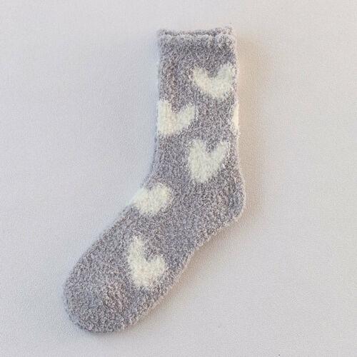 Details about  /Women Heart Fuzzy Fluffy Terry Warm Socks Winter Thick Warm Floor Sleep Socks