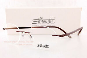 11c4157022 Image is loading New-Silhouette-Eyeglass-Frames-FUSION-5477-6059-Satined-