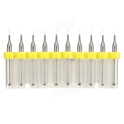 10pcs PCB Drill 0.3-1.2mm Tungsten Steel Carving Alloy Small Engraving Drill