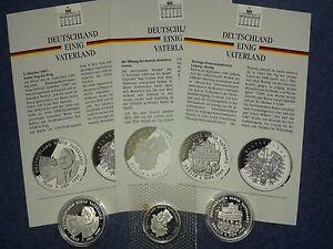 3 Medaille Deutschland Einig Vaterland 9991000 Silber Ebay