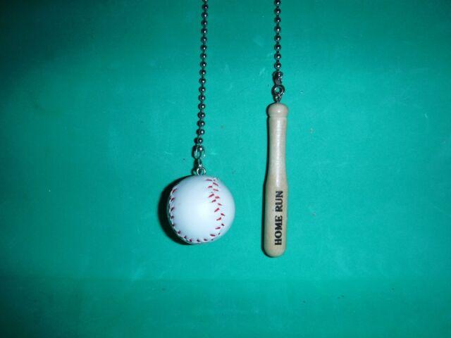 Baseball And Bat Ceiling Fan Pull Chain