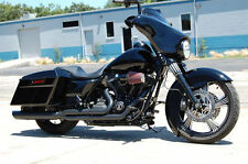 Boss Boarzilla Black Back Cut QUIET Baffle Full Exhaust 09-16 HD Touring