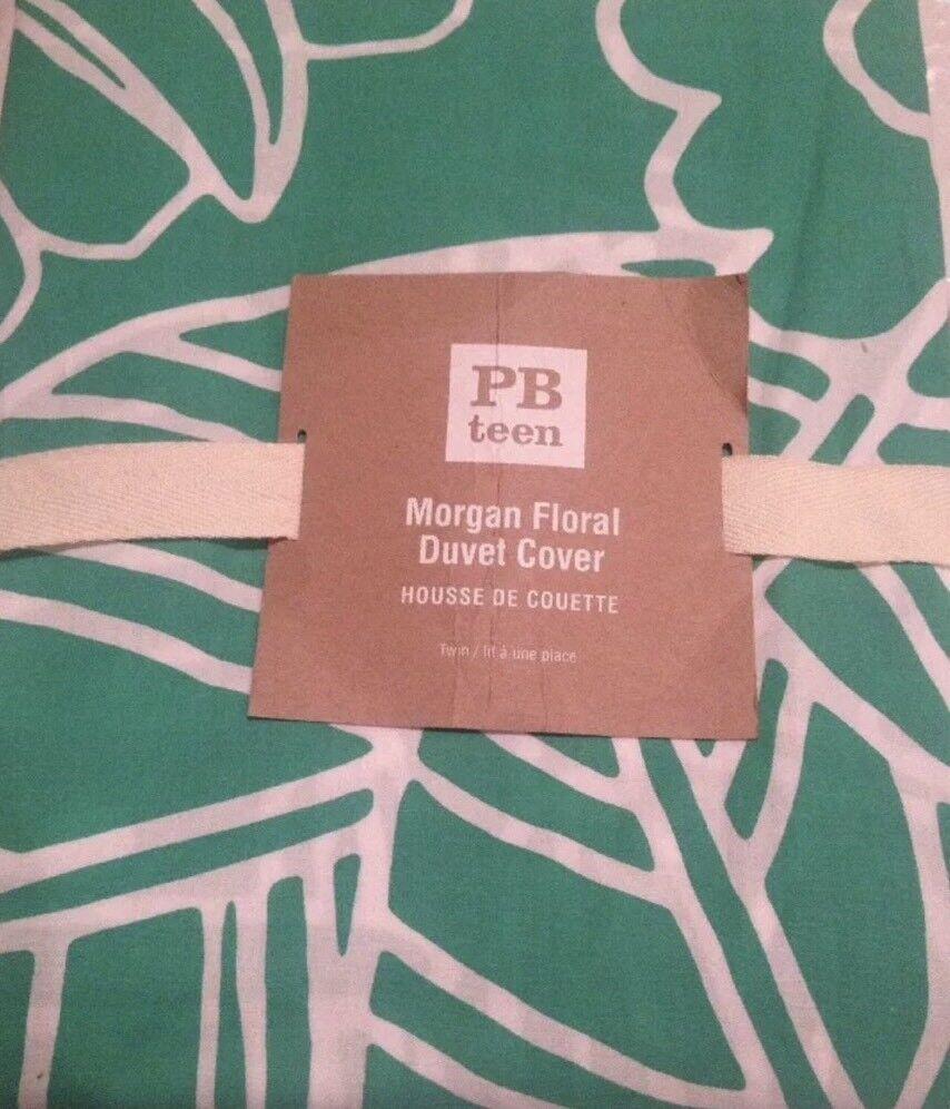 Pottery Barn Teen Morgan floral gumdrop green full queen duvet  New