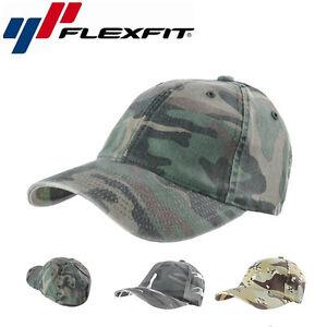 Flexfit-Camouflage-Vintage-Baseball-Cap-Vintage