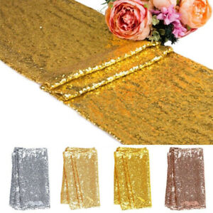 Christmas-Glitter-Sequin-Table-Runner-Tablecloth-Sparkly-Wedding-Party-Decor-Hot