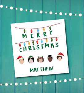 A Stranger Things Christmas.Details About Christmas Card Stranger Things Christmas Greeting Card Personalised