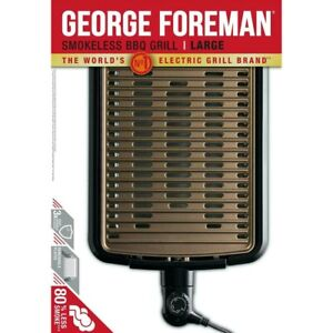 George Foreman 25850 Smokeless Electric Grill, Indoor BBQ LARGE