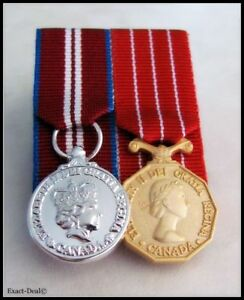 Canada-Queen-Diamond-Jubilee-amp-Canadian-Decoration-Miniature-Medal-Court-Mounted