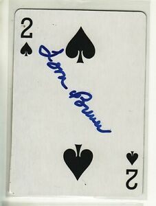 TOM BREWER BOSTON RED SOX 1954-1961 AUTOGRAPHED PLAYING CARD