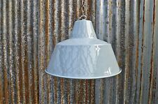 RETRO LARGE GREY INDUSTRIAL STYLE FACTORY CEILING LIGHT WITH HANGING CHAIN LGNC