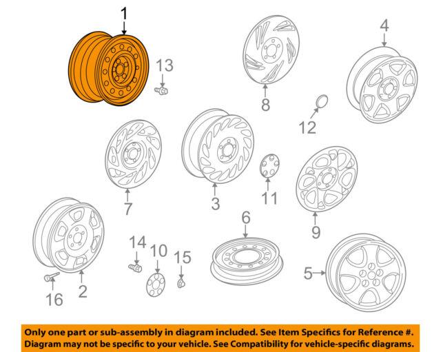 saturn gm oem 01 05 l300 steel wheel 90575885 ebay rh ebay com Saturn Core Diagram of Saturn's Rings