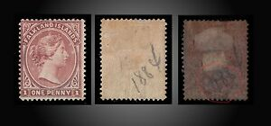 1894-FALKLAND-ISLANDS-VALUE-1d-CLARET-PERF-14-1-2-MINT-H-SCT-7-SG-21