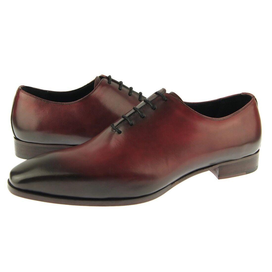 Zapatos de cuero fertini 8805-01 Llano wholecut Oxford, para hombres de vestir, Borgoña