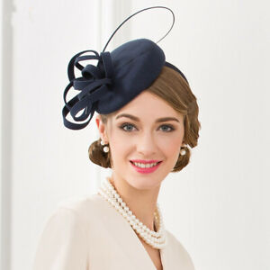 Ladies-Felt-Wool-Fascinator-Cocktail-Formal-Wedding-Bridal-Hat-Headpiece-CK012
