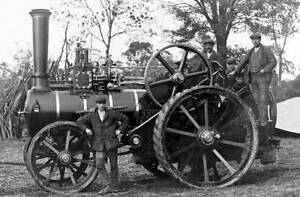OLD-PHOTO-steam-traction-engine-made-by-Fowell-St-Ives-Huntingdonshire