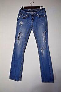 détresse In En détruit Thick Taille Grace Denim Stitch La 27 7 Jeans XZwdqp4