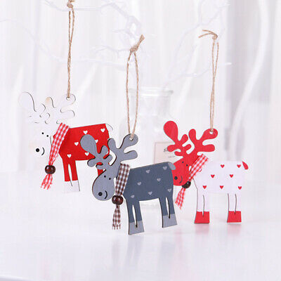 Christmas Tree Decoration Elk Pendant Party Decor Deer Pendants Ornament 10*9cm