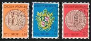 Vatican-1970-CTO-Sc-484-486-Centenary-Medal-Centenary-of-the-Vatican-I-Council