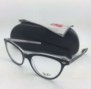 1ba152ee9ca55 New RAY-BAN Rx-able Eyeglasses RB 5360 2034 54-18 Black on Clear ...
