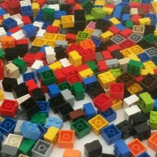 condizione Usato 200x LEGO vari colori 2 x 2 LEGO mattoni BB22