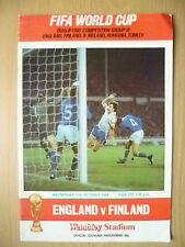 1984 WORLD CUP QUALIFYING MATCH- ENGLAND v FINLAND, 17 OCTOBER