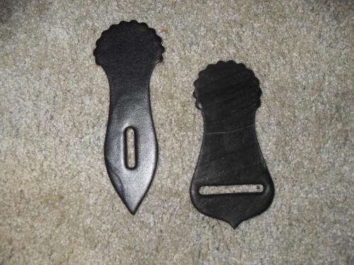 Tie Strap//Sangle titulaire Nouveau cuir noir selle Pièces grande taille Made in USA