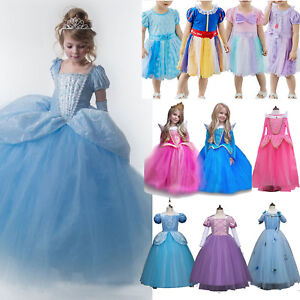 Kid-Girl-Princess-Cinderella-Snow-White-Disney-Cosplay-Costume-Party-Fancy-Dress