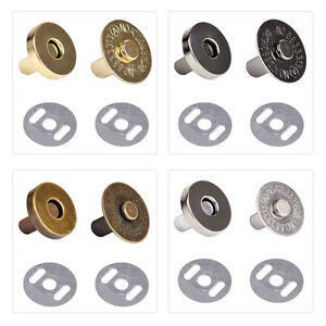 18mm Round Magnetic Snaps Closures Button Clasp Press Studs