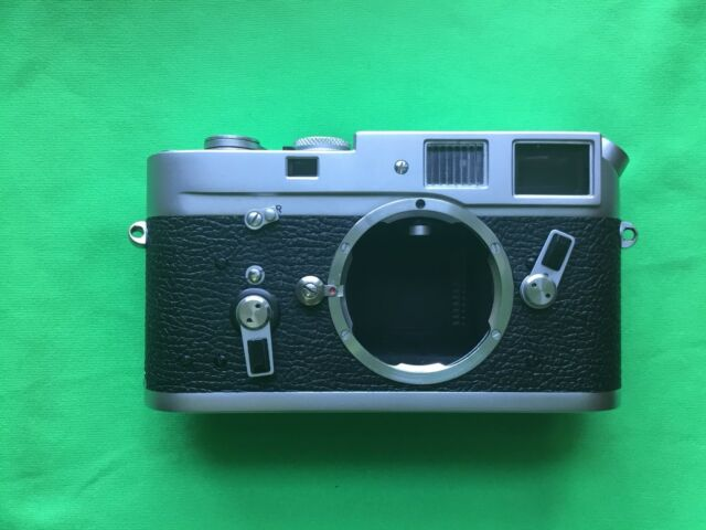 Leica M4 35mm Rangefinder Film Camera Body Only with Manual and Leica body cap.