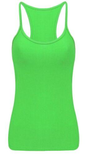 Girls Kids Plain Sleeveless T-Shirt Vest Summer Razor Back Top Ages 5-12 Yrs