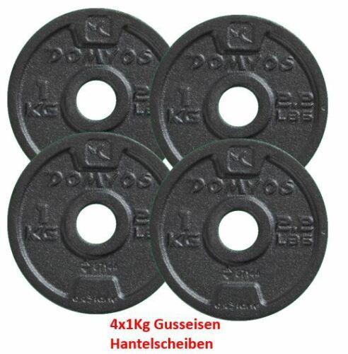 4Kg Hantelscheibe Gewichte Scheiben 28mm Gusseisen Set 1Kg Fitness Gym 4er