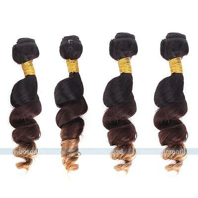 4 bundles Brazilian Virgin Hair Ombre Remy Loose Wave Human Hair Extensions Lot