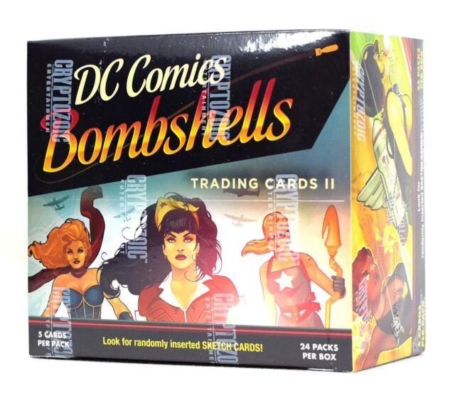 DC Comics Bombshells Trading Cards Box (Cryptozoic 2018) BRAND NEW - SUPER RARE
