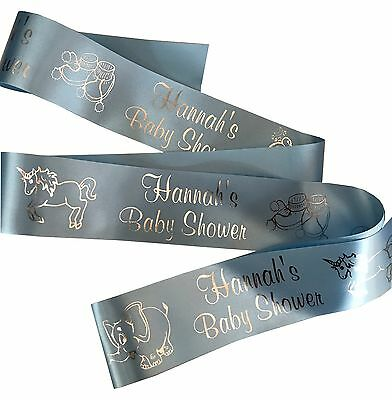 PERSONALISED BABY SHOWER RIBBON 45mm width for cake gifts decoration etc