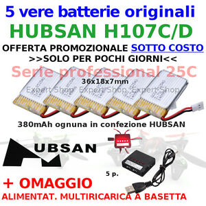 VERE batterie originali 380 professional Drone HUBSAN H107C H017D NUOVE