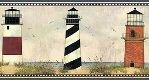 Wallpaper-Border-Designer-Country-Lighthouses-on-Coast-with-Blue-Trim