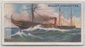 RMS-039-Britannia-039-Paddle-Wheel-Steamboat-Cunard-100-Y-O-Trade-Card